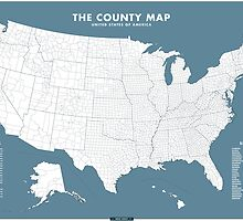 the County Map - blue by Chaney Swiney