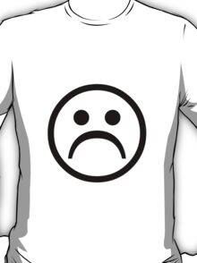 Sad Boy Face [Black] T-Shirt