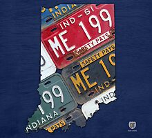 Indiana License Plate Map by designturnpike