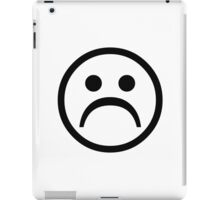 Sad Boy Face [Black] iPad Case/Skin