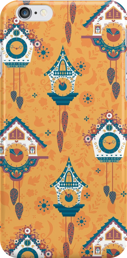 Cuckoo Clock Phone Case by Nanette Regan