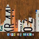 Atlanta Skyline License Plate Art by designturnpike