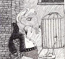 Punk Rock Rat Hangs Out by pinkyjainpan
