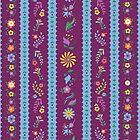 Purple Bavarian Stripe Phone Case by Nanette Regan