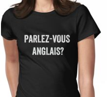 Do you speak English? (French) (White) Womens Fitted T-Shirt