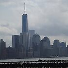New World Trade Center and Lower Manhattan Skyline, View from Hoboken, New Jersey by lenspiro