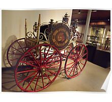 Classic Fire Engine, Hand-Drawn Hose Reel With 4-Wheel Steering, Circa 1857, New York City Fire Museum, New York City Poster
