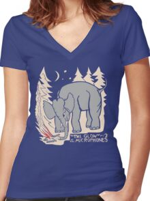 The Microphones - The Glow Pt. 2 Women's Fitted V-Neck T-Shirt