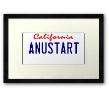Arrested Development - ANUSTART License Plate Framed Print