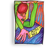 Mime's Box Psychedelic Woman  Canvas Print
