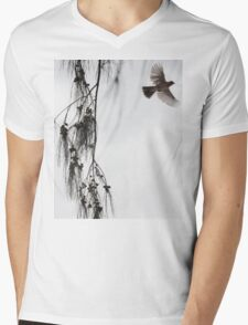 Japanese Bird on Maui Born For Freedom (diptych image 2 of 2) Mens V-Neck T-Shirt