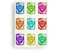Condensed Milk Colours Canvas Print