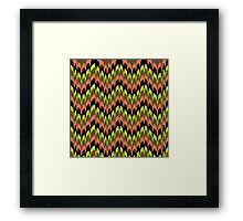 Yellow, Orange, Green, and Brown Abstract Framed Print