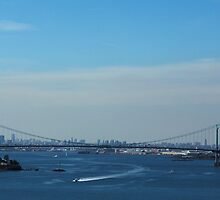 Whitestone Bridge (Panorama) by Gilda Axelrod