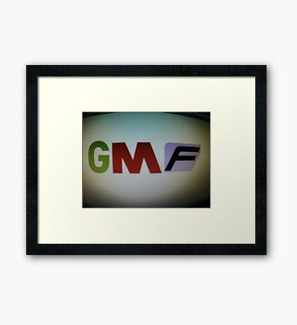 Good M0rning Films Logo Framed Print