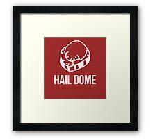 Hail Dome Fossil White Framed Print
