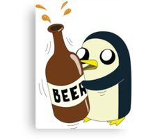 Gunter Loves Beer Canvas Print