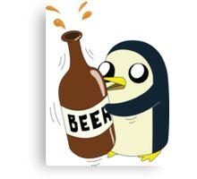 Gunter Loves Beer Canvas Print