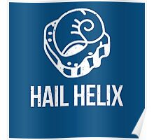 Hail Helix Fossil White Poster