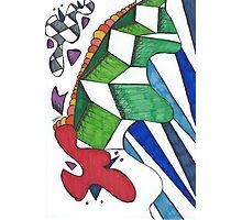 Geometric Caterpillar Photographic Print