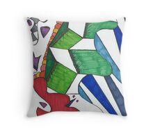 Geometric Caterpillar Throw Pillow