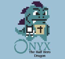 8-bit Onyx with text by davidjonesart
