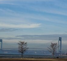 The Verrazano Bridge in Winter by Gilda Axelrod