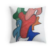 Pearly White Toothed Monster Throw Pillow