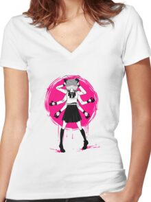 Vocaloid ECHO T-shirt  Women's Fitted V-Neck T-Shirt