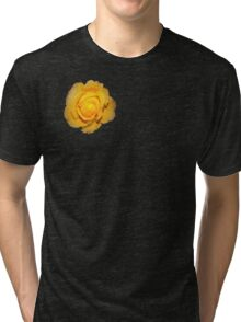 """Spot on"" yellow rose  Tri-blend T-Shirt"