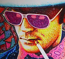 Hunter S Thompson by JMCSharpieArt