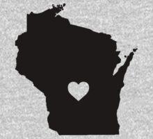 Wisconsin <3 One Piece - Long Sleeve