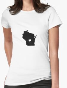 Wisconsin <3 Womens Fitted T-Shirt
