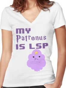 My Patronus is LSP  Women's Fitted V-Neck T-Shirt