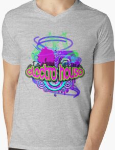 ELECTRO HOUSE MUSIC Mens V-Neck T-Shirt
