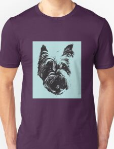 Westie Wonder Graphic ~ black and sea green Unisex T-Shirt