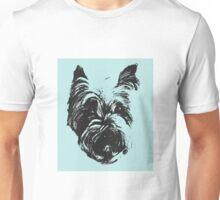 Westie Wonder ~ Sea green and black Unisex T-Shirt