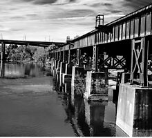 Bridge Over Troubled Waters ~ Black&White by Susan Werby
