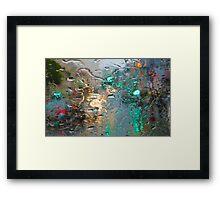 Broadway in the Rain Framed Print
