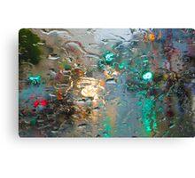 Broadway in the Rain Canvas Print