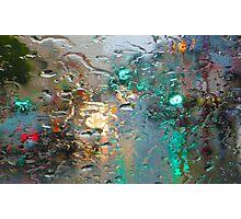 Broadway in the Rain Photographic Print