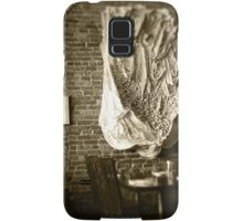 Farmer's Cafe Brick Wall Vintage Style Black and White Photograph Samsung Galaxy Case/Skin