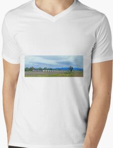 Coal Train, Scone, New South Wales, Australia (panorama) Mens V-Neck T-Shirt