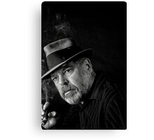 Jazz and a good cigar Canvas Print