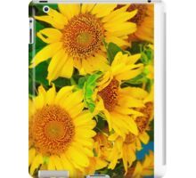 Brilliant Bunch of Sunflowers Tilt Shift Photograph iPad Case/Skin