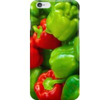 Luscious Green Red Bell Peppers Tilt Shift iPhone Case/Skin