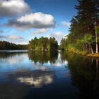 Lake in Finland by Sandra Kemppainen