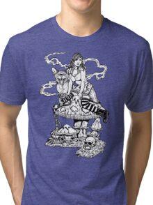 Alice With Mushroom Tri-blend T-Shirt