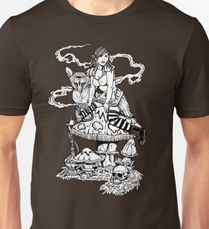 Alice With Mushroom Unisex T-Shirt
