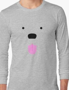Shirt #42  / 100 - cute lil' tongue wag Long Sleeve T-Shirt
